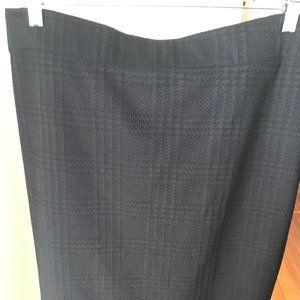 Black Banana Republic Cotton Skirt